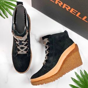 NIB Merrell Tremblant Wedge Lace Pump Ankle Bootie